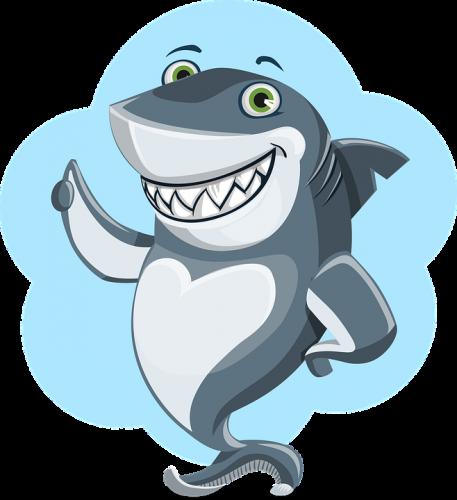 Biting shark