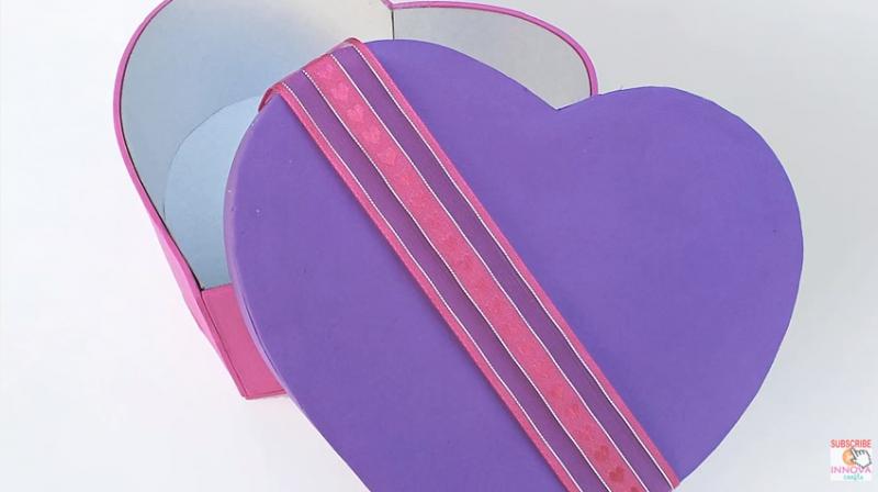Heart shaped box DIY